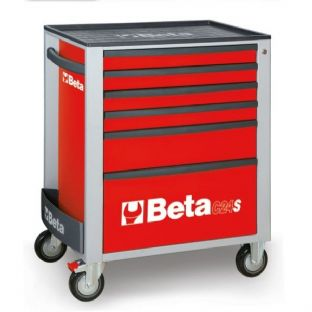 Beta C24S/6-R Mobile Roller Cab 6 Drawers (Red)